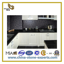 Black Artificial Quartz Countertop for Kitchen, Bathroom(YQC-ASQ1004)