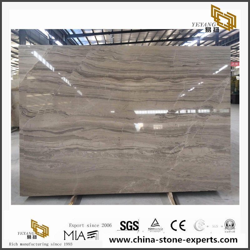 Cheap Coffee brown wooden marble for Countertop/Vanity Tops