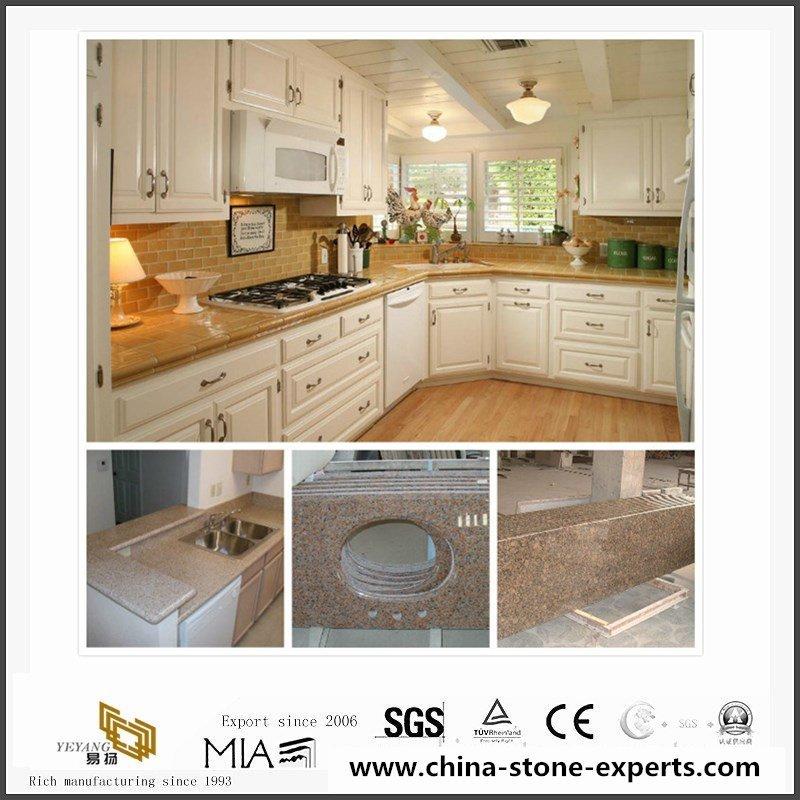 Cheap China G682 Yellow Granite Kitchen Countertop, Vanity Tops8