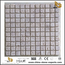 Natural Stone Slate Mosaic White Rough Serface Stone Tiles