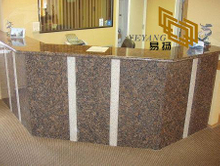 Baltic Brown Granite countertops shared is for a Singapore hotel (YQW-11021C)