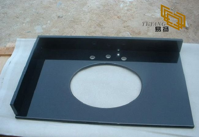 Shanxi Black/ Absolute Black Granite Bathroom Vanity Tops for Hotel (YQW-11031C)