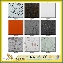 Classic White/Blue/Green/Pink/Black/Yellow Engineered Artificial Quartz Stone for Landscaping/Decorative/Garden/Cladding/Wall
