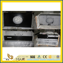Hot Sale Black Quartz YQ-030K Stone Vanity Tops