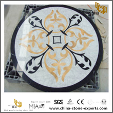 Tulip Pattern Marble Stone Tile Water Jet Medallion Top Sale