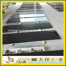 Pure Black Artificial Quartz Stone for Counter Top / Vanity Top