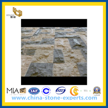 Natural Split Beige Mushroom Stone for Exterior Flooring / Wall Cladding(YQG-PV1065)