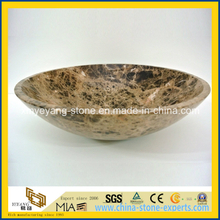 Emperador Dark Marble Hand Basin for Luxury Bathroom