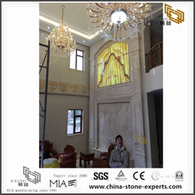 Buy Discount Translucent Onyx Marble Background for Hall Design (YQW-MB0726027)