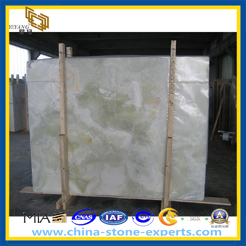 A Grade Polished Light Green Marble Slab for Decoration (YQZ-MS1023)
