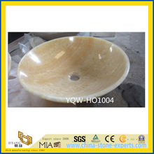 Polished Yellow Onyx Stone for Bathroom Sinks (YQW-HO1004)