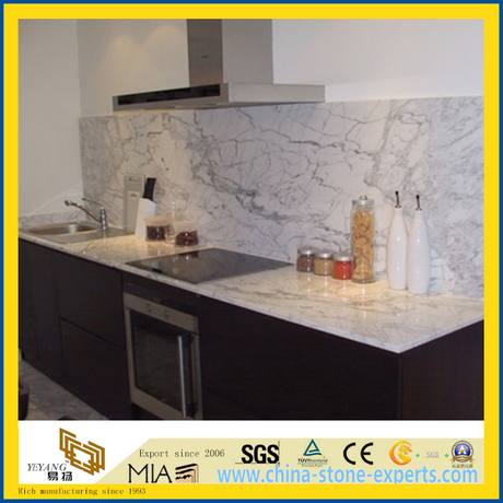 Prefabricated Natural Calacatta White Marble Countertop or Backsplash