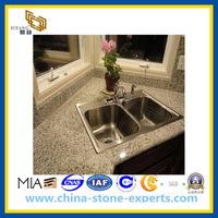 Polished White Golden Yellow Kitchen Top/ Stone Kitchen Islands(YQG-GC1009)