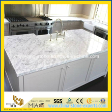 Bianco Carrara White Marble Kitchen Island Top for American Market