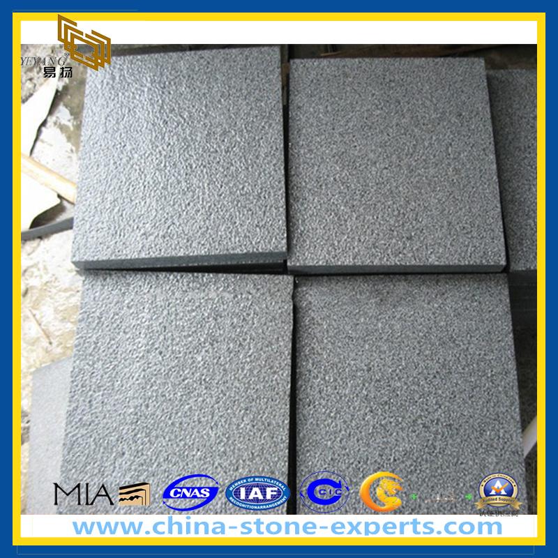 Natural Stone Bush Hammed Granite Stone Outdoor Paving Tile Yqz Ps