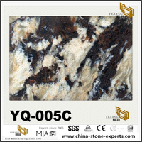 YQ-005C Black Gold Vein Quartz Slabs Tiles Outlet