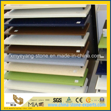 Colorful Artificial Quartz Surface for Kitchen Countertop Design