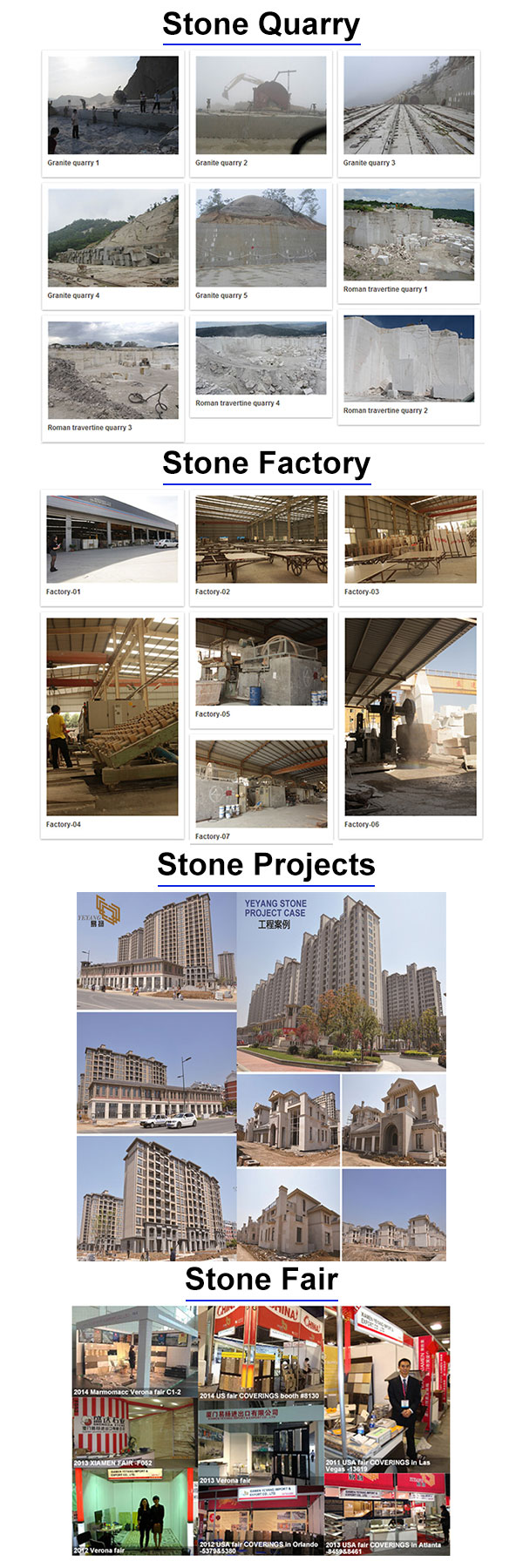Yeyang Quarry+factory+project+fair
