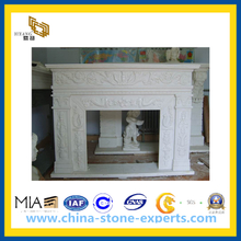 White Marble Stone Fireplace for Indoor(YQG-CS1043)
