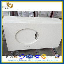 White Quartz Stone Bathroom Vanity Top (YQZ-QC1001)