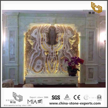 Luxury Translucent Onyx Marble Backgrounds for Hall,Bathroom Wall Decor (YQW-MB072609)