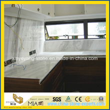 Greece Volakas White Marble Worktop / Countertop for Kitchen Decoration