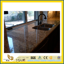 Natural Stone Polished Labrador Antique Granite Countertop for Kitchen/Bathroom (YQC)