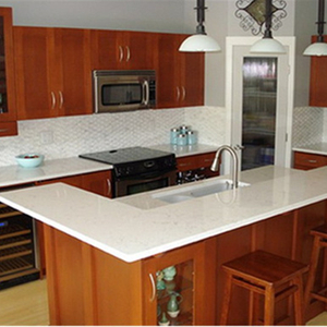 White Quartz Countertops for Kitchen