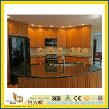 Natural Stone Polished Black Galaxy Granite Countertop for Kitchen/Bathroom (YQC)