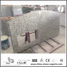 Engineered Bianco Taupe White Granite Countertops for Kitchen (YQW-GC0524016)