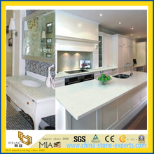 Pure White Polished Artificial Quartz Stone Countertop for Kitchen/Bathroom/Hotel(YQW-QC100015)