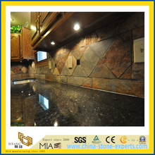 Natural Stone Polished Blue Pearl Granite Countertop for Kitchen/Bathroom (YQC)
