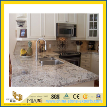 Polished Pearl White Flower Granite Countertop for Kitchen/Bathroom (YQC)