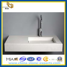 Pure White Artificial Quart Bathroom Vanity Top (YQZ-QC1004)