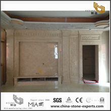 Beautiful White Marble Backgrounds for Hall,Bathroom Wall Design (YQW-MB072602)