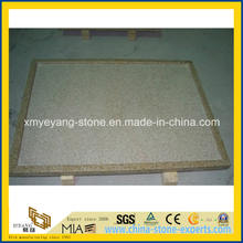 G682 Rusty Yellow Granite Shower Base for Luxury Hotel