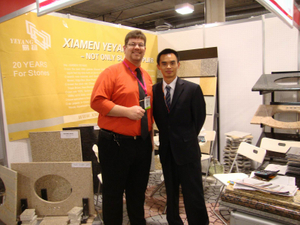 Stone Fair:Xiamen Yeyang Stone Factory ——Export-Manager and Our Client