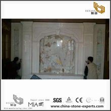 Fashion White Marble Backgrounds for Hall,Bathroom Wall Design (YQW-MB072604)