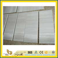 Polished White Wood Graniy Tiles for Wall/Floor Decoration