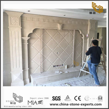 Discount White Marble Backgrounds for Bathroom Design (YQW-MB0726013)